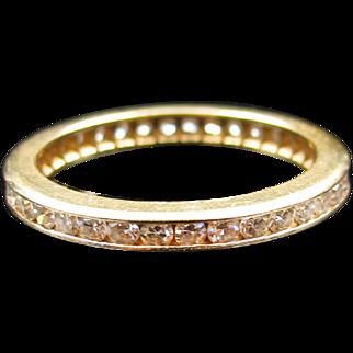 """Trail of Diamonds"" Diamond Eternity band with 18k Yellow Gold (size 6.5)"