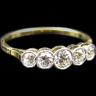 *The Starstorm* Five-Diamond Ring in 18k Gold