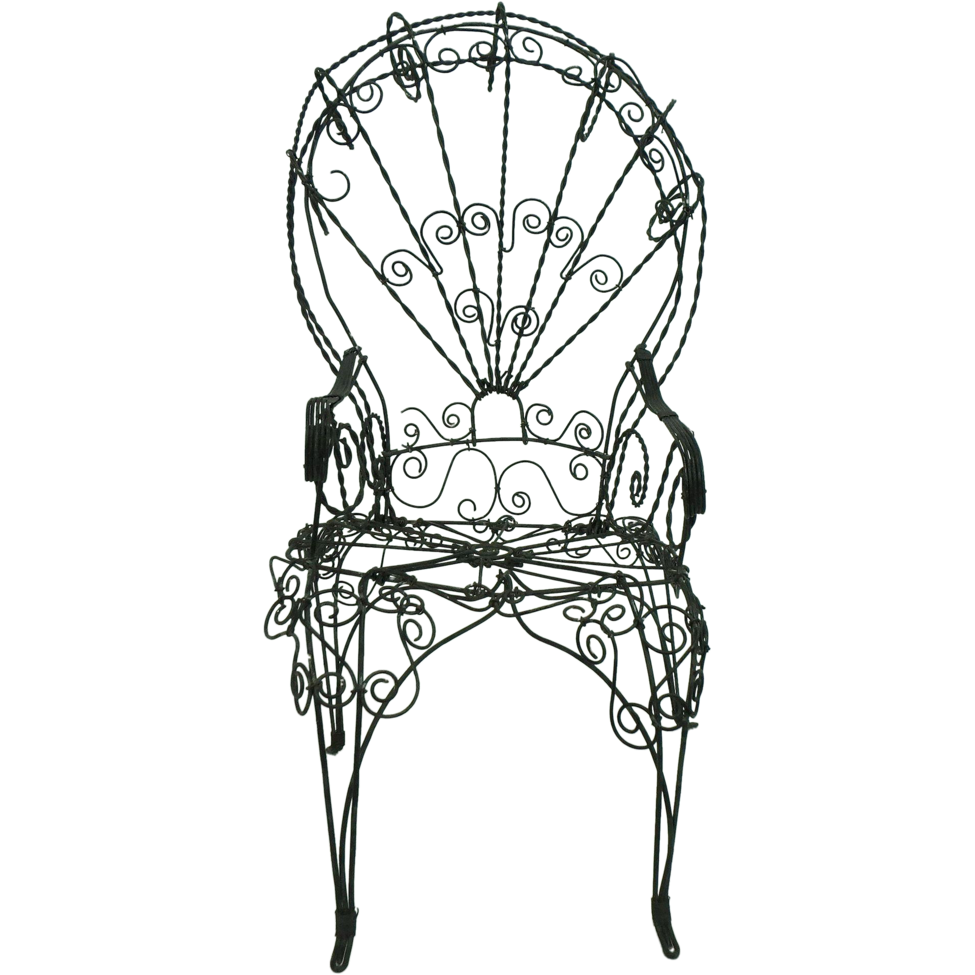 Antique Doll Chair Victorian Wire from opulenceandoddities on Ruby
