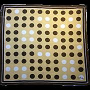 Vera Neumann Polka Dot Graphic Mid-Century Mod Scarf