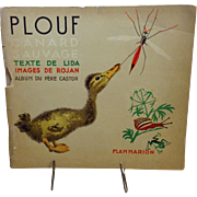 Plouf; Rare 1935 French Book