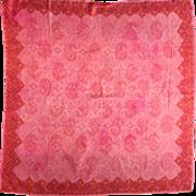 Vera Neumann Pink Batik Scarf