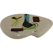 Mid Century Marc Bellaire Covered Dish, Bird Isle