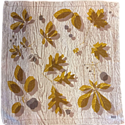 Vera Neumann Silk Scarf, Fall Leaves
