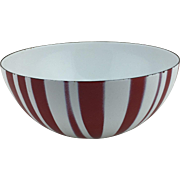 "8 1/2"" Cathrineholme Red Striped Enamel Bowl"