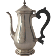 Sterling Silver Paul Revere Coffee Pot, Monogrammed
