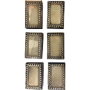 Set of 6 Sterling Match Box Covers by Lebkuecher
