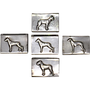 Sterling Figural Dog Matchbook Covers, George Henckel 1910
