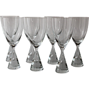Set 7 MId Century Goblets, Holmegaard Princess