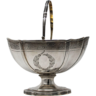 Sterling George III Silver Footed Sugar Basket, Robert & David Hennell London 1797