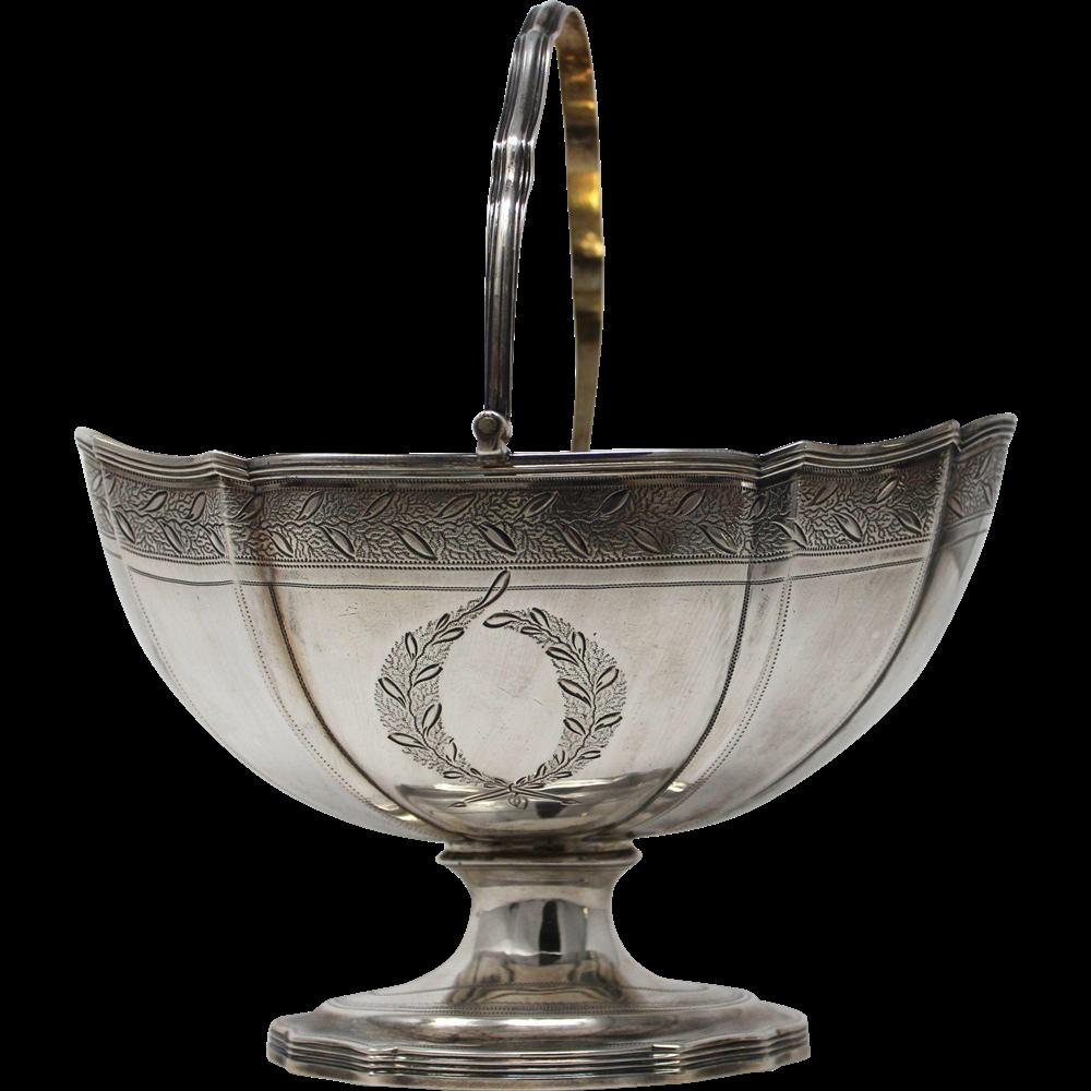 Sterling George III Silver Footed Sugar Basket, Robert & David Hennell London 1797