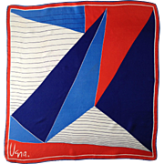 Vera Neumann Graphic Scarf, Red White & Blue