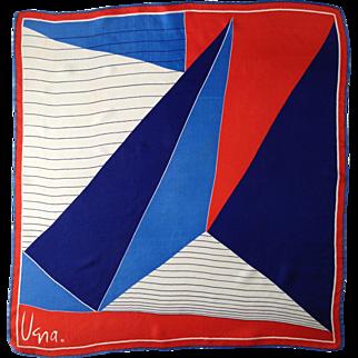 Vera Neumann Graphic Scarf, Red White & Blue