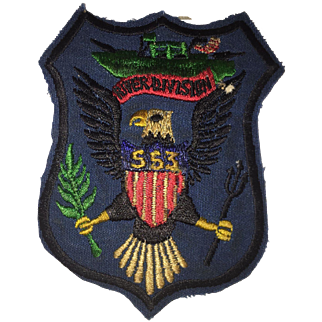 Viet Nam In Country Made Patch 553rd River Division