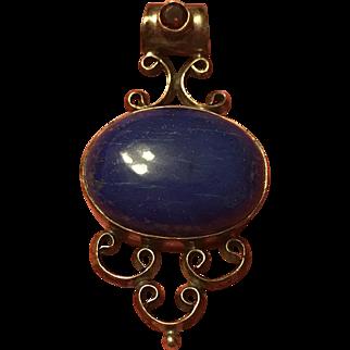 Vintage Lovely Lapis Lazuli Pendant