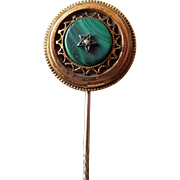 Victorian Style Stick Pin with Faux Pearl