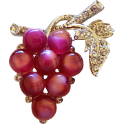 Moonglow Purple Grape Cluster  Brooch