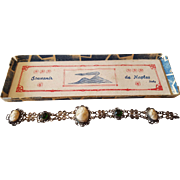 Early Carved Shell Cameo Bracelet circa 1900s
