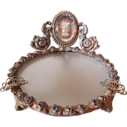 Ornate Ashtray with a Crystal Cameo
