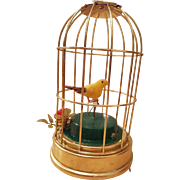 "Musical Bird Cage ""Skaters Waltz"" circa 1900's"