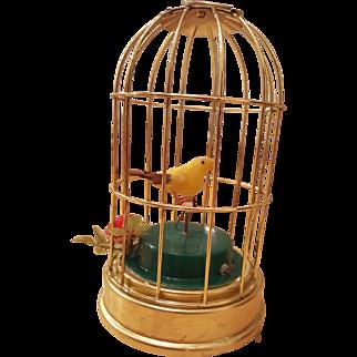 "Musical Bird Cage ""Skaters Waltz"" circa 1900's"