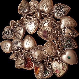 Vintage Charm Bracelet circa 1930s to 1940s