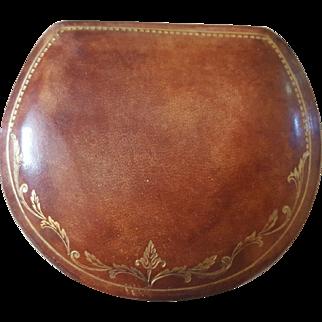 Italian Leather Presentation Box Circa 1950s