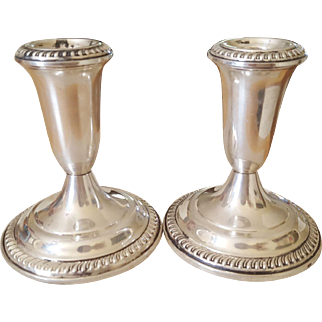 Sterling Weighted Candle Holders by Empire circa 1950s