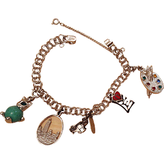 Charm Bracelet Circa 1960s to 1970s