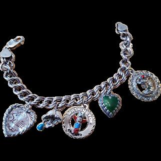 Vintage Seattle Washington Themed Charm Bracelet Sterling Silver .925