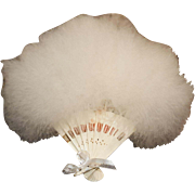 Vintage Fan with White Feathers