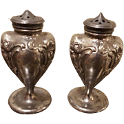 Jennings Brothers Salt and Pepper Shaker Set circa 1900's