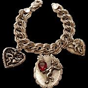 Sterling Silver Cupid Charm Bracelet