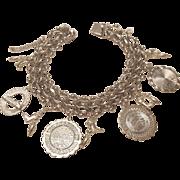 Elco Sterling Silver .925 Charm Bracelet Washington Theme