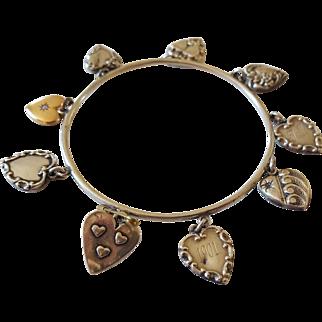 Antique Charm Bracelet circa 1901 Sterling Silver