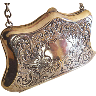 Antique Plated Sterling Silver Purse