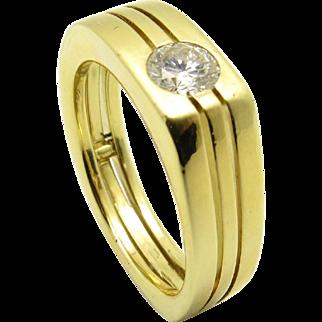 Designer 18K Gold EGI Certified Diamond ring