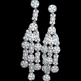 Art Deco Paste Earrings Chandelier Dangle