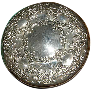 Vintage Towle Sterling repousse Mirror with original pouch nice no mono