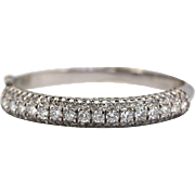 Diamond Bangle Bracelet 5.64 Carats 18K White Gold