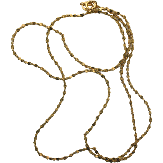 "14K Yellow Gold Singapore 18"" Chain"