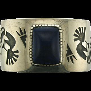 Vintage Navajo Lapis Lazuli and Sterling Silver Bracelet