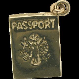14k Yellow Gold Passport Charm