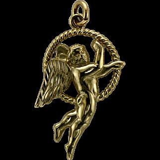 14K Angel Charm or Pendant