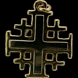 Jerusalem Cross Pendant or Charm- 14K Gold