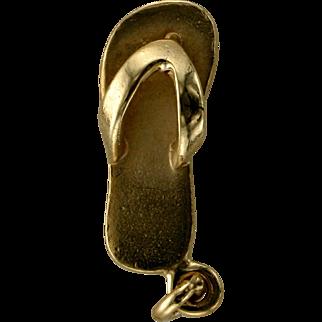 Flip Flop Charm- 14K Gold