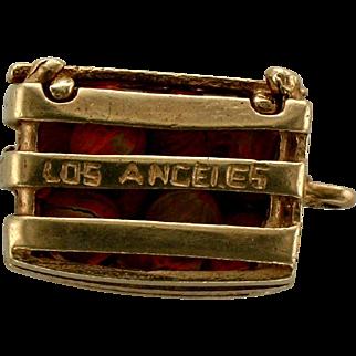 Vintage Hollywood/Los Angeles Orange Crate Charm-14K