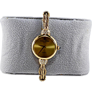Lady's 14K Yellow Gold Baume and Mercier Quartz Bracelet Watch with Diamond Accent