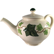 1950's Franciscan Tea Pot Ivy Pattern