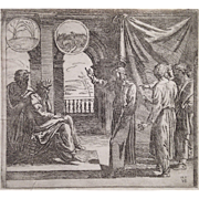 Joseph Interprets Pharaoh's Dreams, after the fresco by Raphael in the Vatican, 1615
